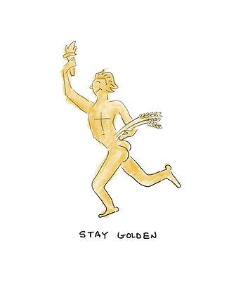 Stay Golden 8x10