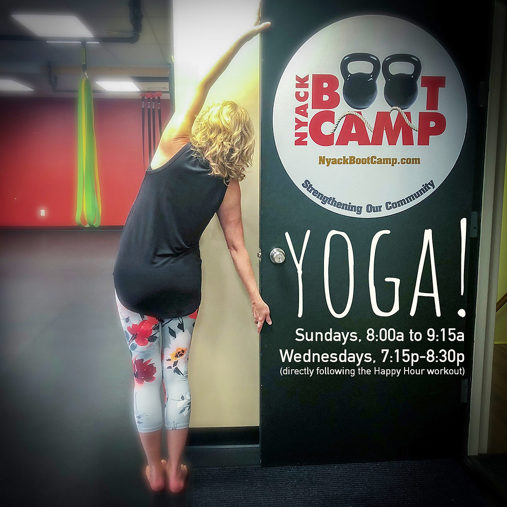 Yoga at Nyack Boot Camp