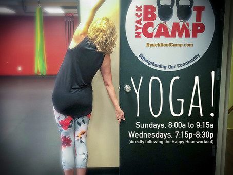 Yoga at Nyack Boot Camp!