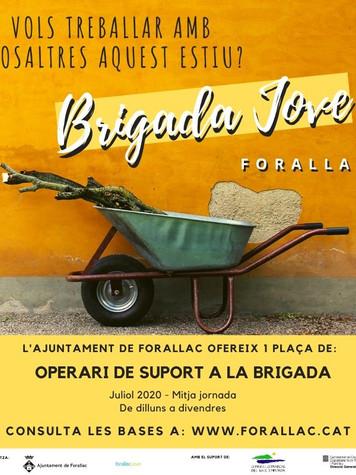 cartell brigada jove forallac instagram