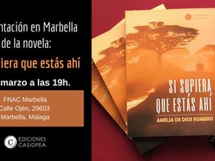 Próxima presentación en Marbella.