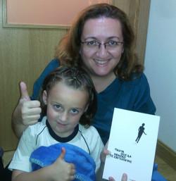 Mari Carmen y joven lectora