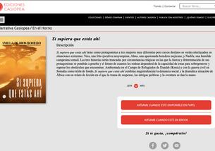 La novela ya está en la web de Casiopea