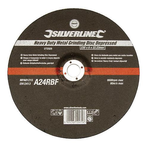 Silverline Heavy Duty Metal Grinding Disc Depressed
