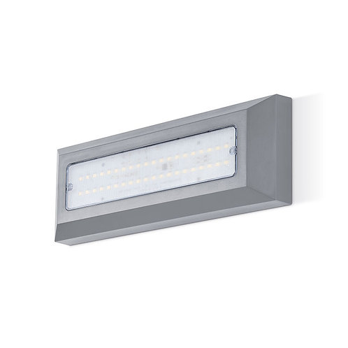 JCC surface mount linear wall light with prismatic diffuser