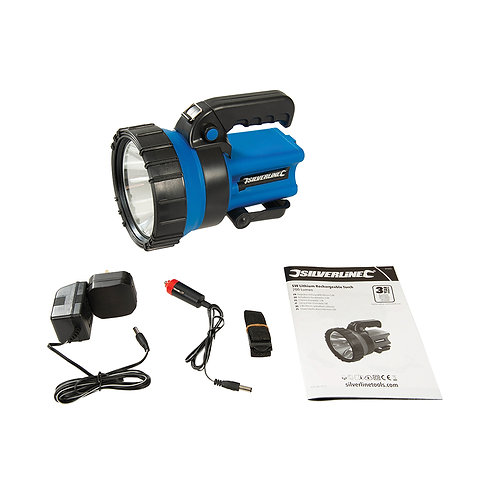 Silverline 5W Lithium Rechargeable Torch