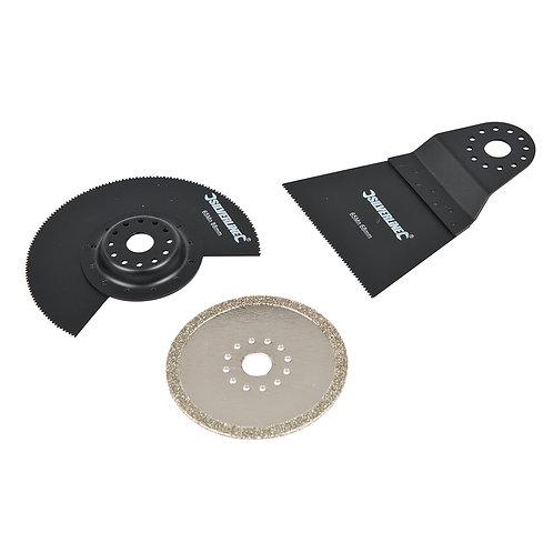 Silverline Multi-Tool Accessory Kit 3pce