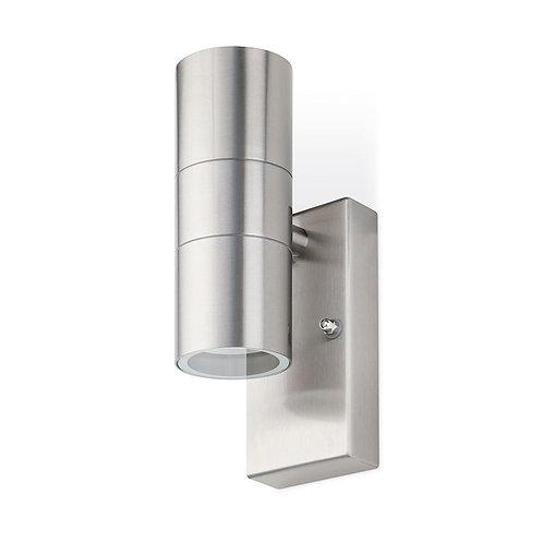 JCC twin GU10 Stainless Steel offset up/down wall light