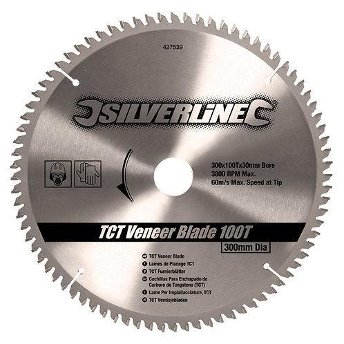 Silverline TCT Veneer Blade 100T