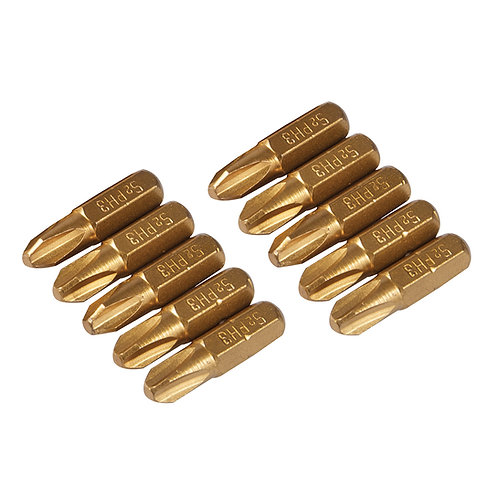 Silverline Gold Screwdriver Bits 10pk