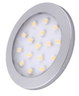 Oval surface mounted slim 1.5W under cabinet light