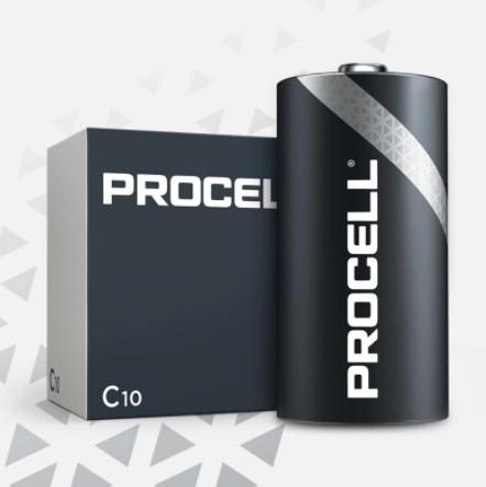 DuracellProcell Alkaline C, 1.5V battery - pack of 10