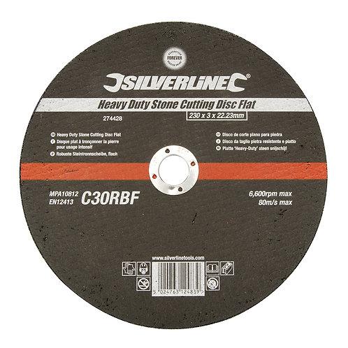 Silverline Heavy Duty Stone Cutting Disc Flat