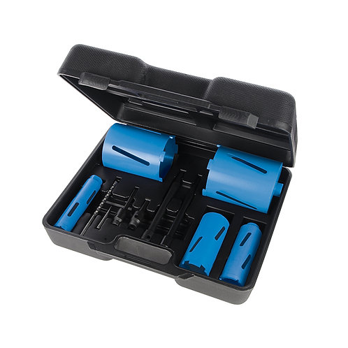 Silverline Diamond Core Drill Kit 5-Core 11pce
