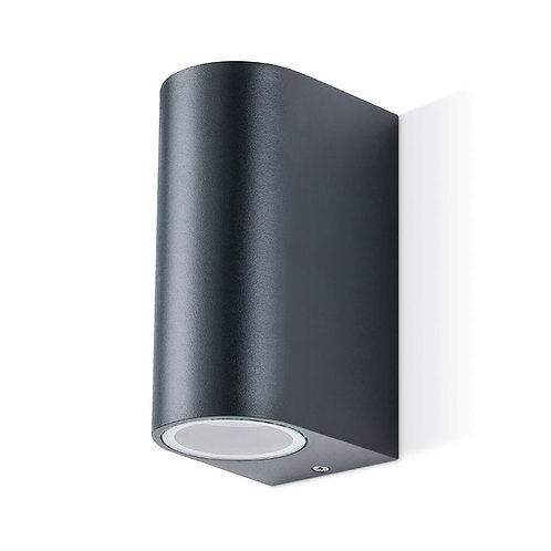 JCC GU10 curve up/down wall light