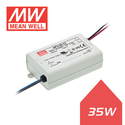 Meanwell LED Driver - 35W-12V DC IP20