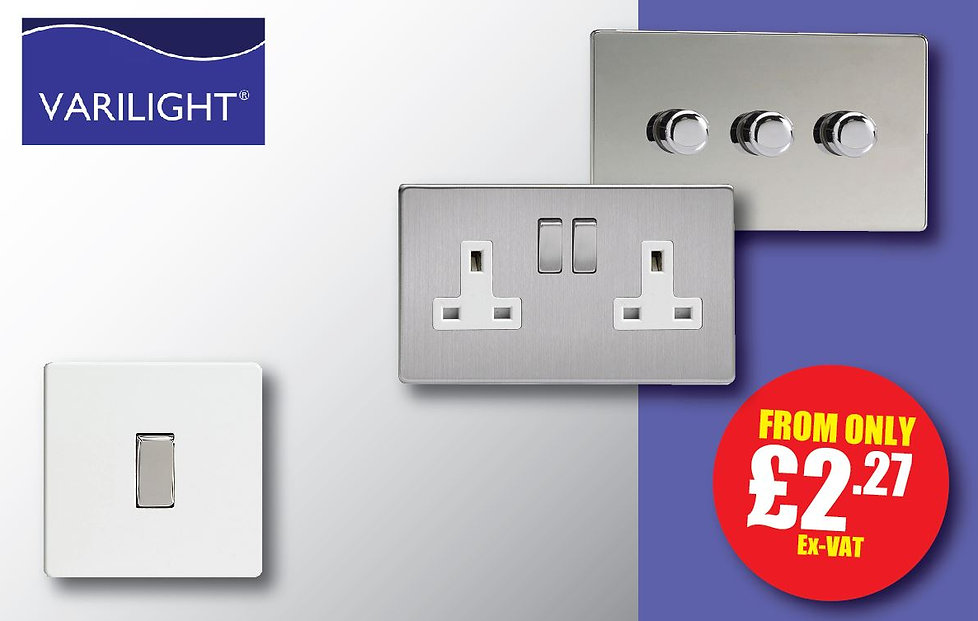 Varlight switches sockets and dimmers