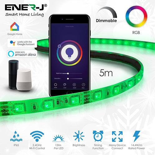 Ener-J smart WiFi IP65 LED strip light kit 5m pack