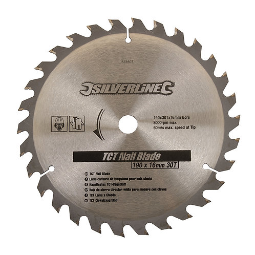 Silverline TCT Nail Blade 30T