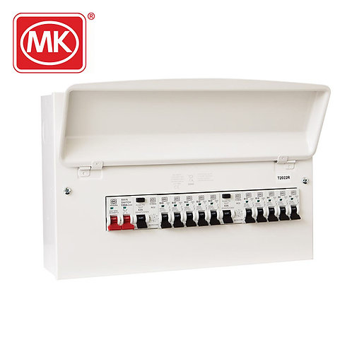 MK Sentry 16-way pre-populated dual RCD flexible consumer unit