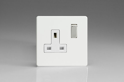 Varilight 1-Gang 13A Double Pole Switched Socket with Metal Rockers