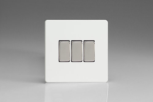 Varilight 3-Gang 10A 1- or 2-Way Rocker Switch