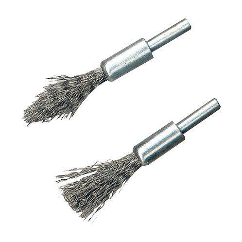 Silverline Steel De-Carb Brush Set 2pk