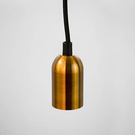TimeLED Antik sleek pendant light in Satin Gold effect gives a sleek and modern finish to your lighting project.
