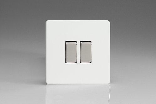 Varilight 2-Gang 10A 1- or 2-Way Rocker Switch