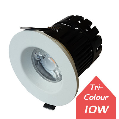 Lumanor 10W Tri-Colour Fire-Rated Downlight IP65