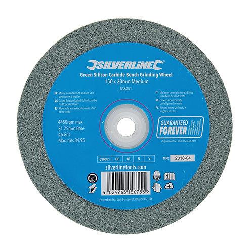 Silverline Green Silicon Carbide Bench Grinding Wheel