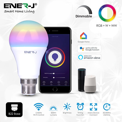 Ener-J smart WiFi LED GLS A60 9W RGB+CCT
