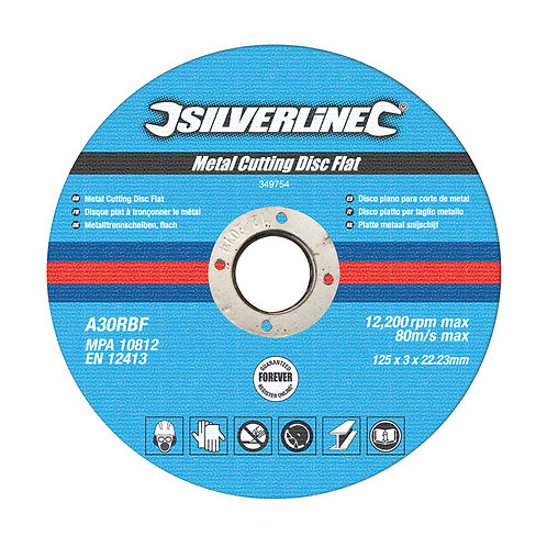 Silverline Metal Cutting Discs Flat 10pk