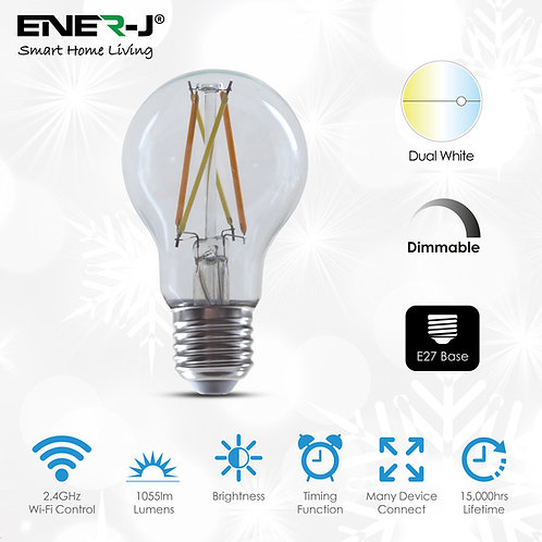 Ener-J smart WiFi LED filament GLS A60 8.5W dimmable & CCT changeable