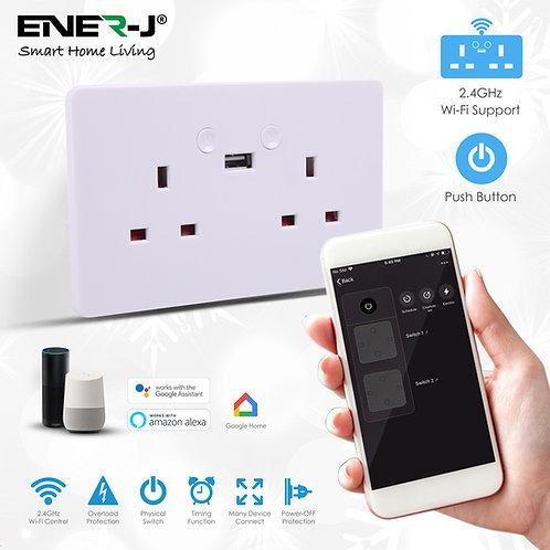 Ener-J smart WiFi double socket with USB