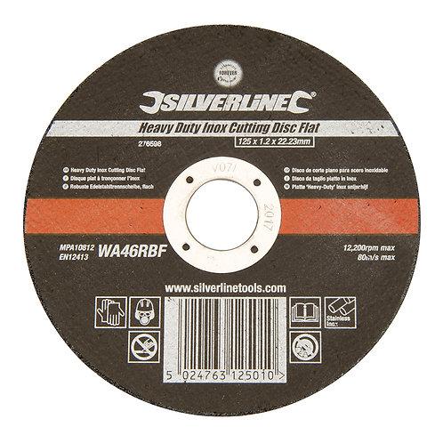 Silverline Heavy Duty Inox Cutting Disc Flat