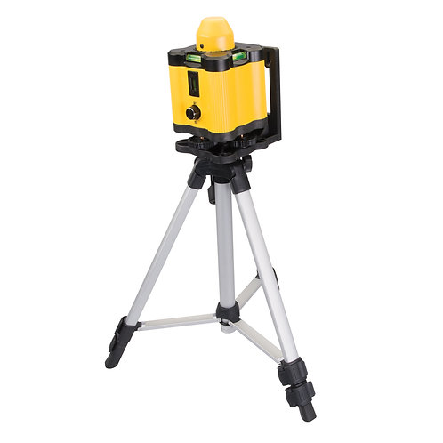 Silverline Rotary Laser Level Kit - Projects a solid laser line up to 10m or a laser dot up to 30m with tripod stand
