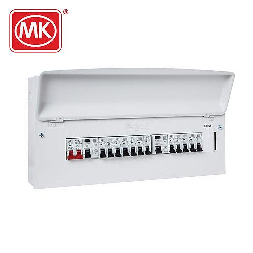 MK Sentry 21-way pre-populated dual RCD flexible consumer unit