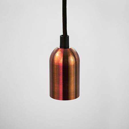TimeLED Sleek Textured Pendant Light – Copper Effect