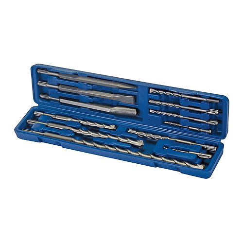 Silverline SDS Plus Masonry Drill & Steel Set 12pce