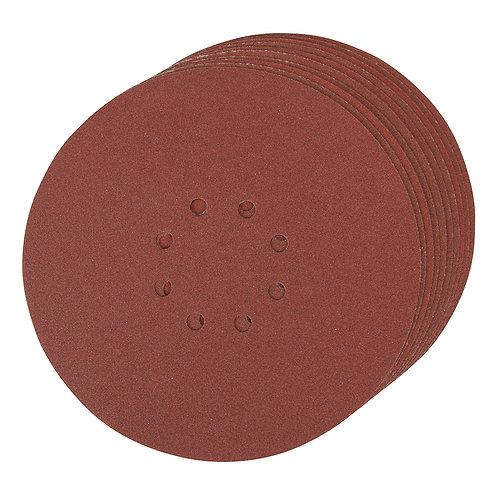 Silverline Hook & Loop Discs Punched 150mm 10pk