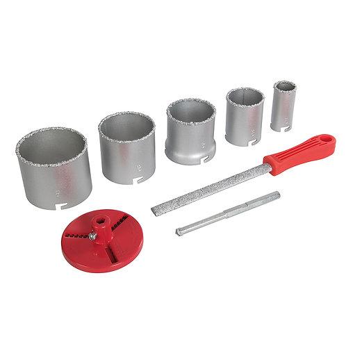 Silverline Tungsten Grit Holesaw Kit 8pce