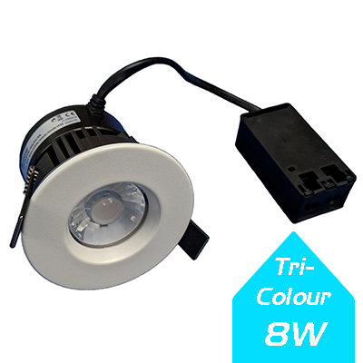 Lumanor 8W Tri-Colour Fire-Rated Downlight IP65