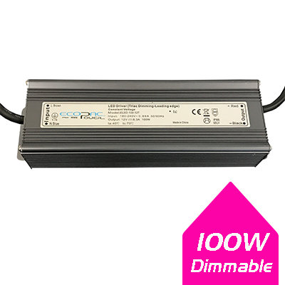 Ecopac 100W 12V IP66 Dimmable LED Driver