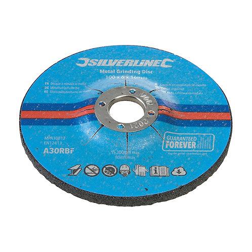 Silverline Metal Grinding Discs 10pk