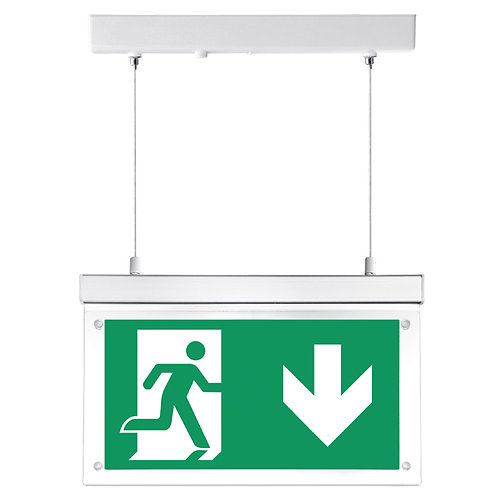 Lumineux Fontburn hanging 3W 2-in-1 LED emergency exit sign
