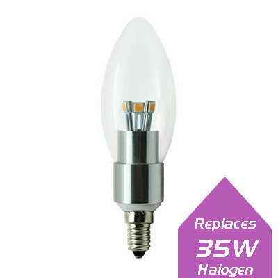 Lumanor Dimmable Clear Candle 4W