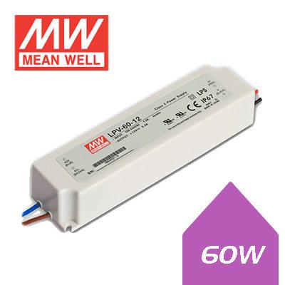 Meanwell LED Driver - 60W -12V DC IP67