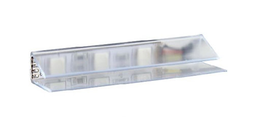 PVC RGB glass shelf LED clip - 0.75W