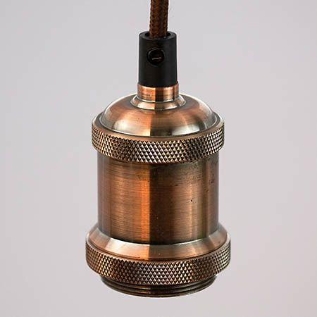 TimeLED Antik Vintage Pendant Light - Copper Effect